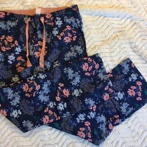 Gap Body Floral PJ Pants Size M